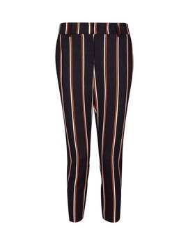 Petite Black Ginger Stripe Print Trousers by Dorothy Perkins