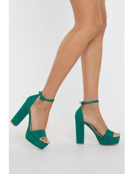 Your Love Keeps Lifting Me Faux Suede Heels by Nasty Gal
