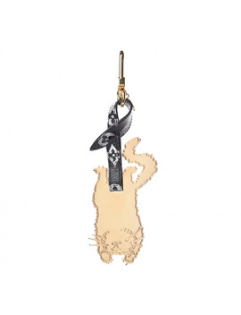 Louis Vuitton Monogram Catogram Flying Cat Bag Charm Key Holder Gold by Louis Vuitton