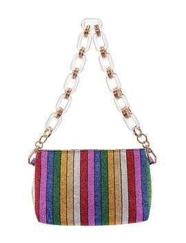 Giada Metallic Stripe Shoulder Bag by Nina