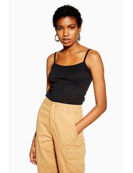 Longline Scallop Camisole Top by Topshop