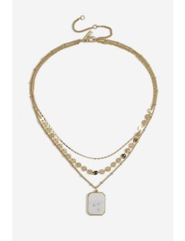 **shell-pendant-multirow-necklace by topshop