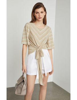 Striped Tie Front Top by Bcbgmaxazria