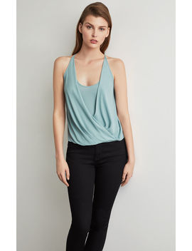 Draped Front Faux Wrap Top by Bcbgmaxazria