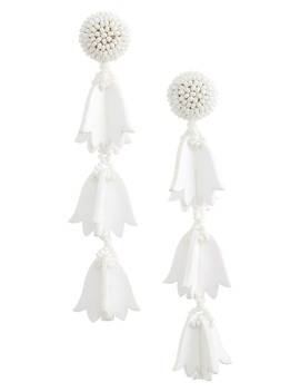 Runway Bellflower Drop Earrings by Oscar De La Renta