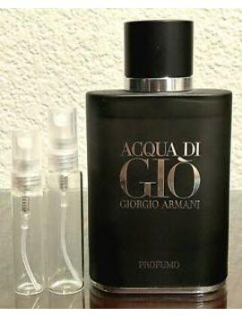 Giorgio Armani Acqua Di Gio Profumo Edp 5ml 10ml Glass Decant Samples by Giorgio Armani