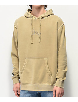 Imperial Motion Curser Light Brown Hoodie by Imperial Motion