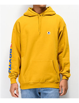 Brixton Stowell Gold Hoodie by Brixton