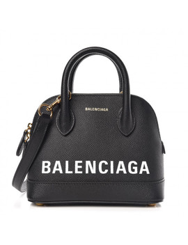 Balenciaga Grained Calfskin Ville Top Handle Bag Xxs Black by Balenciaga