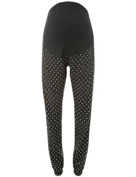 **Maternity Black Spot Print Joggers by Dorothy Perkins