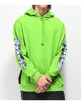 Pink Dolphin Electric Waves Green Hoodie by Pink Dolphin