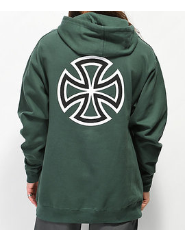Independent Bar Cross Green Hoodie by Independent