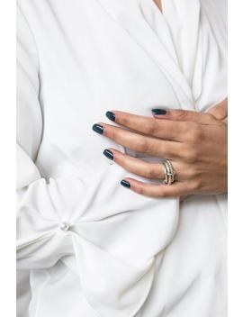 3 Connected Stackable Silver Rings by Etsy