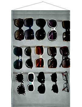 Ikiriska Sunglasses Grey Organizer, Storage, Holder, Display, Stand For 15 Glasses For Wall Or Door by Ikiriska