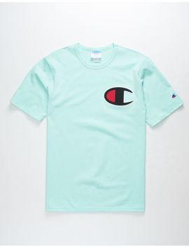 Champion C Applique Logo Mint Mens T Shirt by Champion