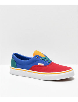 Vans Era Red, Blue & Yellow Skate Shoes by Vans
