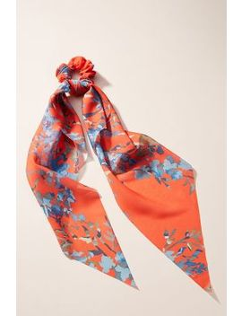 Lola Floral Scarf Ponytail Holder by Anthropologie