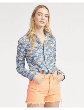 Print Knit Cotton Oxford Shirt by Ralph Lauren