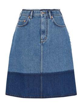 Halona Frayed Two Tone Denim Skirt by Acne Studios
