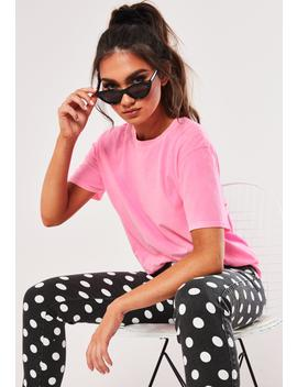 Neon Pink Washed T Shirt by Missguided