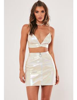 Metallic Iridescent Co Ord Mini Skirt by Missguided
