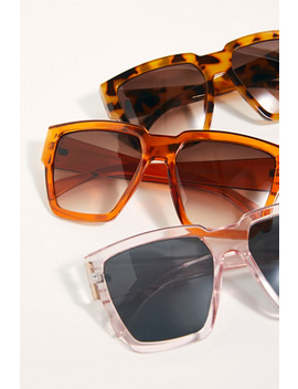 Holiday In The Sun Square Sunglasses by Free People
