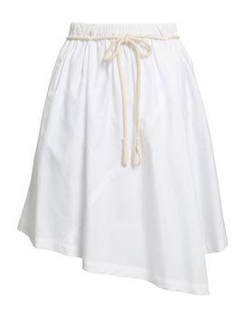 Asymmetric Cotton Poplin Skirt by Vince.