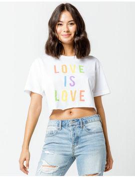 Full Tilt Love Is Love Womens Crop Tee by Full Tilt