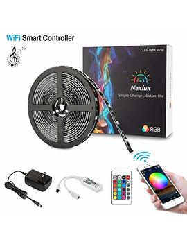 Nexlux Led Strip Lights, Wi Fi Wireless Smart Phone Controlled 16.4ft Waterproof Light Strip Led Kit 5050 Led Lights,Working With Android And I Os System,Alexa, Google Assistant by Nexlux