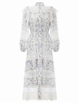 Moncur Lace Yoke Dress by Zimmermann