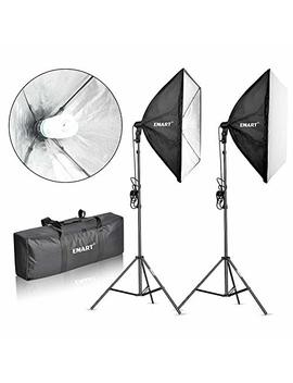 "Emart 900 W Softbox Lighting Kit Photography Continuous Photo Studio Light System For You Tube Video Shooting Soft Box 24"" X 24"" by Emart"