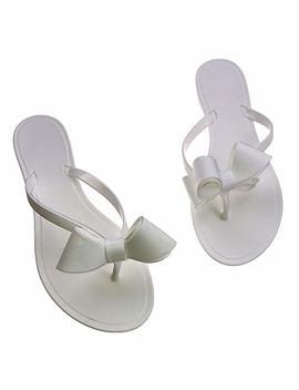 Shoe'n Tale Women Ribbon Bow Sandals Flip Flops Narrow Strap by Shoe'n Tale