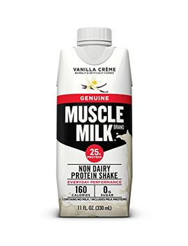 Muscle Milk Genuine Protein Shake, Vanilla Crème, 25g Protein, 11 Fl Oz, 12 Count by Muscle Milk