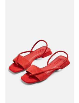 Hester Red Sandals by Topshop