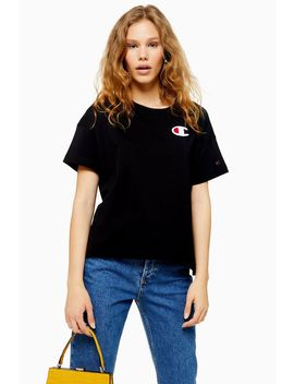 Logo Crop T Shirt By Champion by Topshop