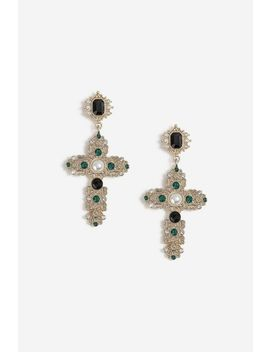 Cross Drop Earrings by Topshop