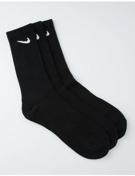Nike Sb 3 Pack Everyday Black Mens Crew Socks by Nike Sb