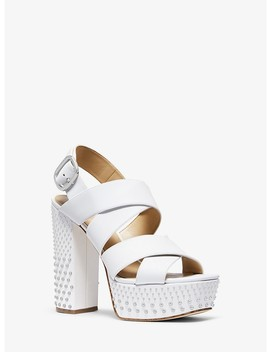 Mila Studded Leather Platform Sandal by Michael Michael Kors