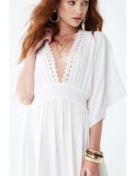 Crochet Lace Trim Maxi Dress by Forever 21