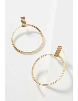 Carla Hooped Post Earrings by Anthropologie