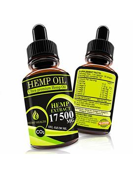 Hemp Oil Drops 17500mg, Co2 Extracted, Help Cope With Stress, Anxiety And Pain, 100 Percents Natural Ingredients, Vegan Friendly, Gmo Free, Made In Usa by Hemp Health