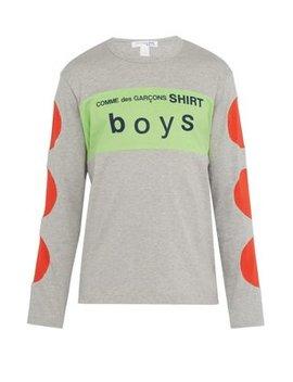 Boys Logo Printed Cotton T Shirt by Comme Des Garçons Shirt