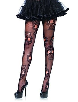 Sugar Skull Net Pantyhose by Leg Avenue