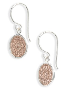 Circle Drop Earrings by Anna Beck