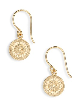 Beaded Circle Drop Earrings by Anna Beck