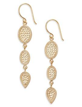 Triple Drop Earrings by Anna Beck