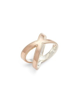 Smooth Crisscross Ring by Anna Beck