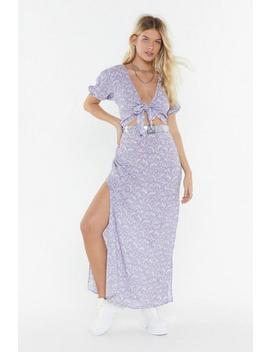 Wrap Top And Split Maxi Skirt Co Ord by Nasty Gal