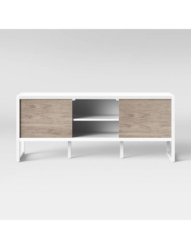 Fairglen Two Tone Media Stand With Storage Natural/White   Project 62 by Project 62
