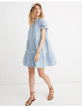 Ruffle Hem Central Shirtdress In Gingham Check by Madewell